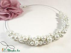 Meska - Szőlő nyaklánc - hófehér Edina09 kézművestől Pearl Necklace, Pearls, Jewelry, String Of Pearls, Bijoux, Jewlery, Jewels, Jewelery