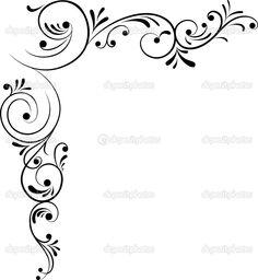 Swirl Design, Border Design, Drawing Stencils, Scrapbook Borders, Borders For Paper, Simple Doodles, Stencil Patterns, Doodles Zentangles, Art Template