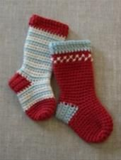 Tante Grøn: Jule-bestik-strømpe