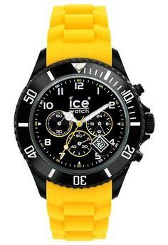Montre Ice-Watch Black Sili Yellow Big