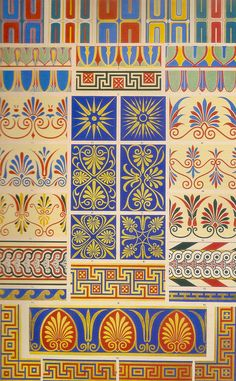 From the book Owen Jones Design, Ornament, Architecture, and theory in an age in transition by Carol A. Hrvol Flores #pattern #ornament