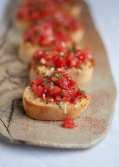 eat: Bruschetta with Garlic Mozzarella Toast    this heart of mine