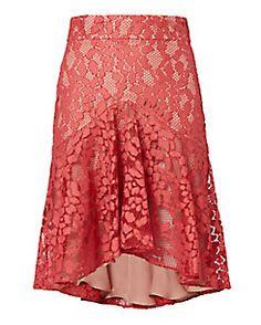 Alexis Braxten Flounced Lace Skirt