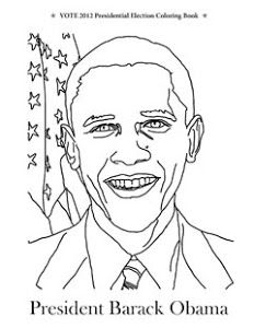 President Barack Obama coloring page from the Vote 2012 Presidential ...