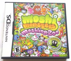 Nintendo DS Dsi Dsl CIB Complete Game MOSHI MONSTERS MOSHLING ZOO