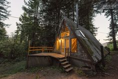 1/24: Cozy A-Frame Cabin in the Redwoods