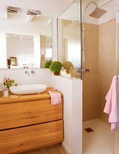 Bathroom with shower cabin - . - cabin - Badezimmer mit Duschkabine – – Bathroom with shower cabin – … – cabin Cabin Bathrooms, Laundry In Bathroom, Bathroom Renos, Bathroom Interior, Bathroom Ideas, Budget Bathroom, Shower Bathroom, Shower Door, Bathroom Layout
