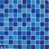 Features:  -Glass mosaic tile.  -Finish: Blue.  -Mildew resistant.  Finish: -Blue.  Material: -Glass.  Installation Type: -Thin set & grout.  Product Type: -Backsplash tile/Floor tile/Countertop tile/