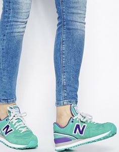 new balance turquoise trainers
