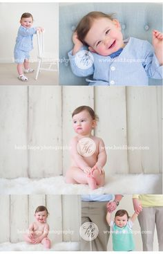 One year old photoshoot in the studio by Heidi Hope Photography #boy birthday #seersucker #family photos