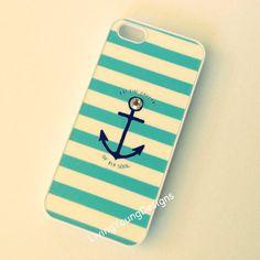 Blue Achor Rhinestone Studded Case iPhone 4 4S 5 on Wanelo