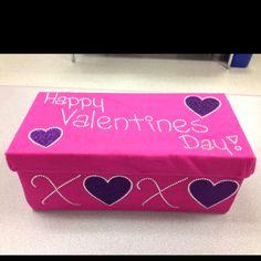 My rhinestoned Valentine's Day box!!!