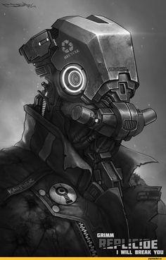 cyberpunk,Sci-Fi,art,арт,красивые картинки,барышня,replicide,Борис Дятлов,длиннопост,deviantart