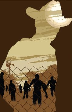 Limited Edition WALKING DEAD print by illustrator Jason Westlake. $15.00, via Etsy.