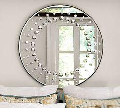 Hailey Circle Dot Mirror #potterybarn