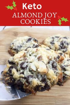 25 Low Carb Keto Christmas Cookies - The Thrifty Kiwi Just because you're dieting doesn't mean you have to miss out on all the holiday treats. Enjoy these 25 low carb keto Christmas cookies that are so good. Keto Cookies, Almond Joy Cookies, Cookies Et Biscuits, Almond Joy Fat Bombs, Maple Cookies, Cookies Kids, Sugar Free Cookies, Keto Foods, Keto Snacks
