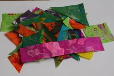 How to Make Eric Carle Style Tissue Paper Prints