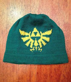 Free knitting pattern for Legend of Zelda Tri-Force Skullcap - Nancy Bauer designed this beanie with intarsia.
