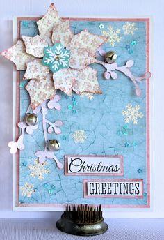 Christmas Greetings - Christmas Card - Kaisercraft Silver Bells