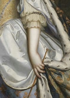 Portrait of Queen Maria Theresa of France by Charles and Henri Beaubrun 17th century (detail)