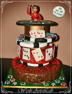 Texas hold' em player Sculpture by BB Mode To Play - cake by Wesh ArtsLab Torre Faro - Messina