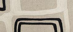 Embroidered Linen Throw Pillows :: Judy Ross Textiles