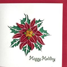 Become a Retailer of Quilling Cards made by Quilling Card. We also create Custom Quilling orders. Quilling Cards, Paper Quilling, Quilling Christmas, Christmas Cards, Invitation Cards, Invitations, New Crafts, Poinsettia, My Design