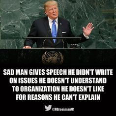 The UN & the entire world laughed. (9/2017) I felt like crying.