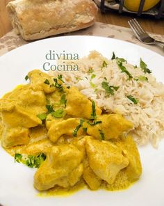 pollo al curry plato 2 Healthy Life, Healthy Eating, Food To Make, Easy Meals, Food And Drink, Health Fitness, Low Carb, Lunch, Dishes