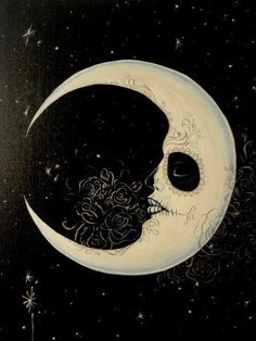 sweet! sugar skull moon! love it!!!