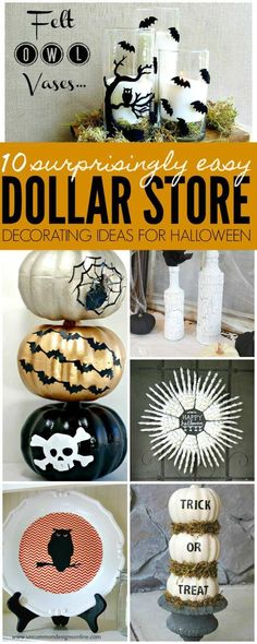 Dollar Store Halloween Decorating Ideas help save you money this Halloween by cr… - diy und selbermachen ideen Halloween Snacks, Halloween Cubicle, Diy Halloween Party, Halloween Trick Or Treat, Halloween 2018, Vintage Halloween, Halloween Stuff, Pink Halloween, Homemade Halloween