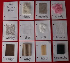 MOBILE INFANTS Cognitive- 6.1.B About Me- My Senses- Texture Book. Little Stars Learning Texture Book