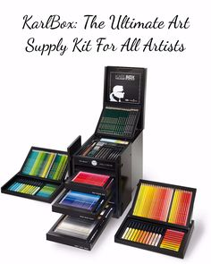 Because we know that art is life therefore this complete kit will never let you worry of running out of color. Be more creative, be bold and be unstoppable. Check it out==> http://gwyl.io/karlbox-the-ultimate-art-supply-kit-for-all-artists/