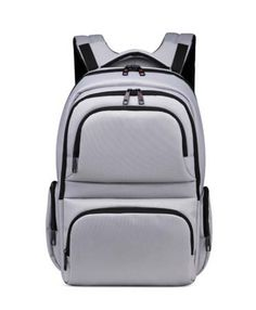 White Colour Impertex Fabric Man Backpack with Pocket Detail