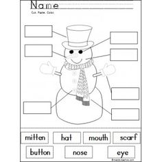 Snowman Learning Activity