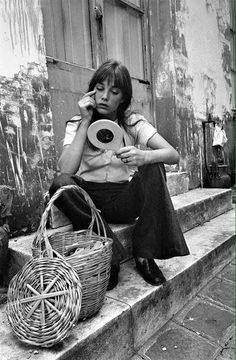 Jane Birkin and her basket bag.
