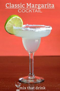 Margarita Recipe: the classic tequila, orange and lime cocktail . The classic Margarita features just three delicious ingredients – four if you count the salt Mexican Margarita Recipe, Classic Margarita Recipe, Margarita Mix, Margarita Cocktail, Margarita Recipes, Tequila Drinks, Alcoholic Drinks, Vodka Cocktails, Alcohol Recipes