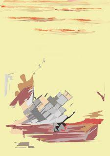 ARTES, DESARTES E DESASTRES CONTEMPORÂNEOS. O adeus do barqueiro Acrílica e interf. digital sobre papel 0,30 x 0,42