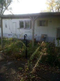 Trailer on the property where KRM once lived