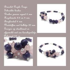 Agaat-rozekwarts en bergkristal