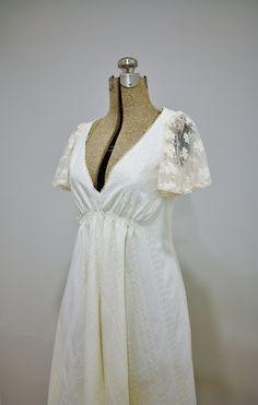 vintage 70s cotton dress  Bridal Vixen by BombshellsandBabes, $84.00