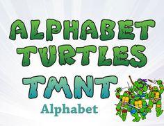 Ninja Turtles Alphabet Clipart - Turtles Alphabet Clipart - TMNT Clip Art - High Resolution by PartyCity74 on Etsy