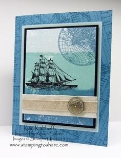 Stamping to Share: 9/11/13 The Painter's Tape Technique with The Open Sea and a Video Tutorial