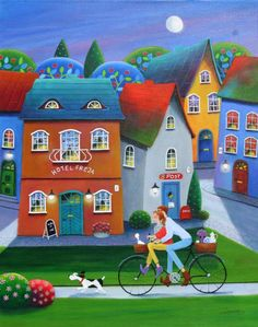 """Saatchi Art Artist Iwona Lifsches; Painting, """"Let's Stay Here For The Night!"""" #art"""