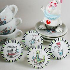 Alice in Wonderland Decor Drawer Pulls Set - Dinky Cow Drawer Knobs, Cabinet Knobs, Drawer Pulls, Disney Home, Rabbit Hole, Cher, Alice In Wonderland, Decorative Accessories, Decorative Plates