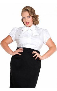 897c72ba796 Estelle Top in White - Plus Size