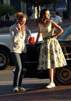 Reese on the set for Walk the Line - Walk The Line Photo - Fanpop Lace Skirt, Midi Skirt, Walk The Line, Line Photo, Reese Witherspoon, On Set, Walking, Hair Styles, Skirts