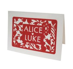 warm and festive cut-out invitations