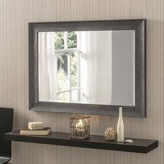 Salgado Accent Mirror Brambly Cottage Finish: Dark Grey, Size: H x W Grey Wall Mirrors, Contemporary Wall Mirrors, Modern Contemporary, Mirror Set, Beveled Mirror, Dresser Mirror, Dark Grey Walls, Overmantle Mirror, Cube Shelves