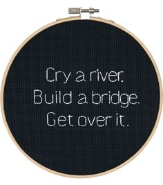 Dimensions® Cry a River Counted Cross-Stitch Kit - Herrschners Cross Stitching, Cross Stitch Embroidery, Embroidery Patterns, Hand Embroidery, Cross Stitch Designs, Cross Stitch Patterns, Diy Broderie, Cross Stitch Quotes, Do It Yourself Inspiration